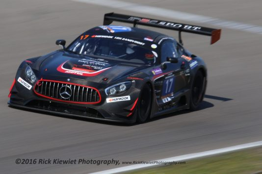 #17 IDEC Sport Racing Mercedes AMG GT3 - Patrice & Paul Lafarge and Gabriel Abergel during the 2016 Hankook 12 hrs of Zandvoort.