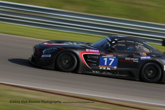 #17 IDEC Sport Racing Mercedes AMG GT3 - Patrice & Paul Lafarge and Gabriel Abergel during the 2016 Hankook 12 hrs of Zandvoort.