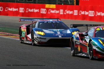 #67 Ford GT Chip Ganassi Team UK - Marino Franchitti, Andy Priaulx, Harry Tincknell chasing the #51 AF Corse Ferrari 488 GTE - Gianmaria Bruni, James Calado