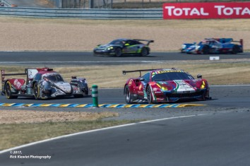 #51 AF Corse Ferrari 488 GTE | James Calado / Alessandro Pier Guidi / Lucas Di Grassi and #38 Jackie Chan DC Racing Oreca 07 - Gibson | Ho-Pin Tung / Thomas Laurent / Oliver Jarvis