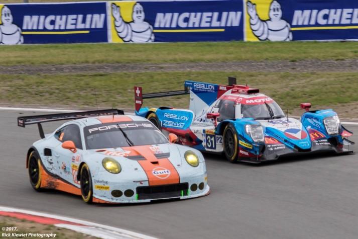 #86 Gulf Racing Porsche 911 RSR | Michael Wainwright / Ben Barker / Nick Foster#31 Vaillante Rebellion Oreca 07 - Gibson | Nicolas Prost / Bruno Senna / Julien Canal