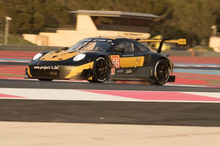 Team Project 1 Porsche 911 RSR - Jörg Bergmeister, Patrick Lindsey and Egidio Perfetti