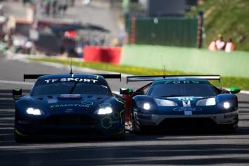 #66 Ford Chip Ganassi Team UK Ford GT - Stefan MÜCKE \ Olivier PLA \ Billy JOHNSON and #90 TF Sport Aston Martin VANTAGE - Salih YOLUC \ Euan ALERS-HANKEY \ Charles EASTWOOD
